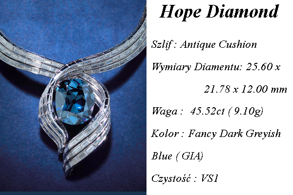 Diament Hope Niebieski